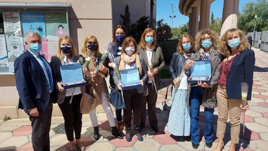 Foto de familia de los directores de los tres centros de salud de Pozuelo de Alarcón