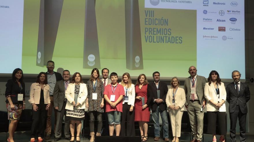Foto de Familia de los Premios Voluntades