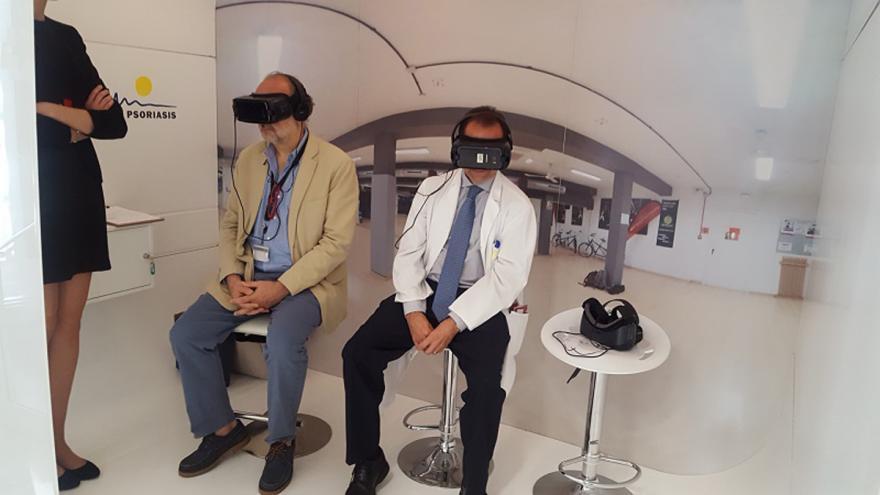 El Hospital de La Princesa da a conocer la psoriasis con gafas de realidad virtual