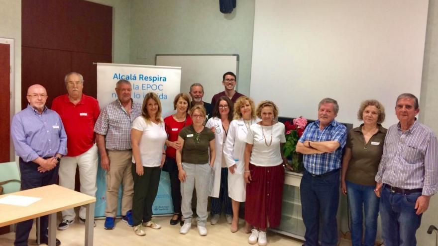 Grupo de pacientes con EPOC Centro de Salud Miguel de Cervantes
