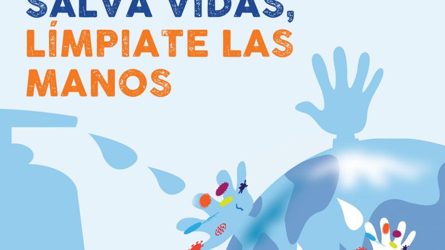 Cartel de SaludMadrid para la higiene de manos