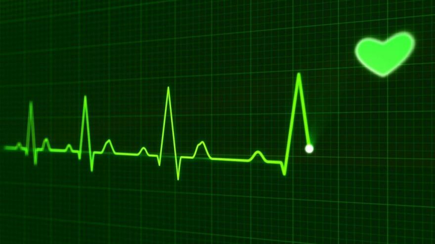 Gráfico cardíaco con un corazón