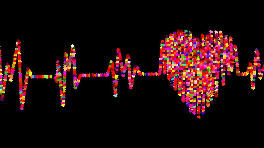 Electrocardiograma colorido