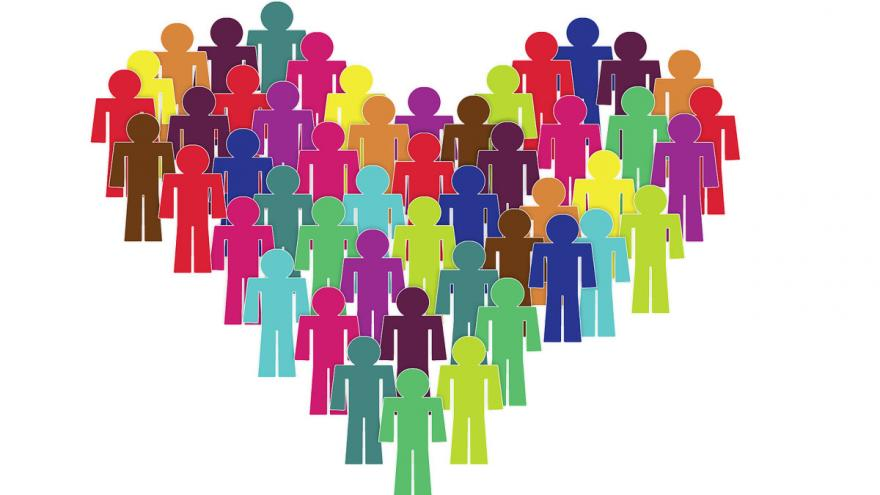 Alegoría_grupo de personas de distintos colores