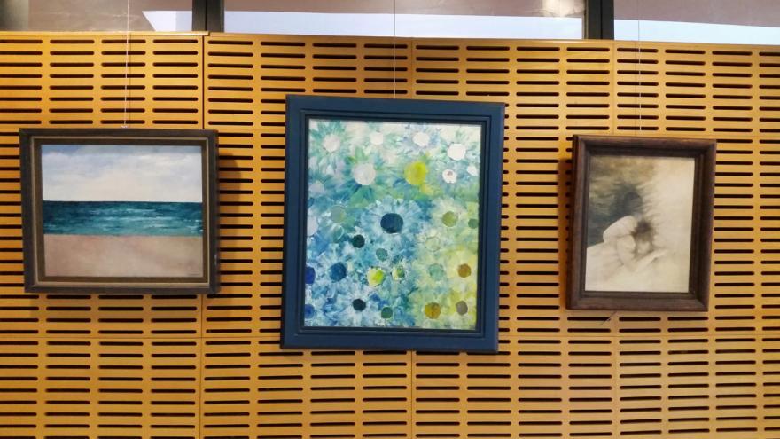 Obras realizadas por los profesionales y sus familiares del Hospital Santa Cristina en la exposición MirArte