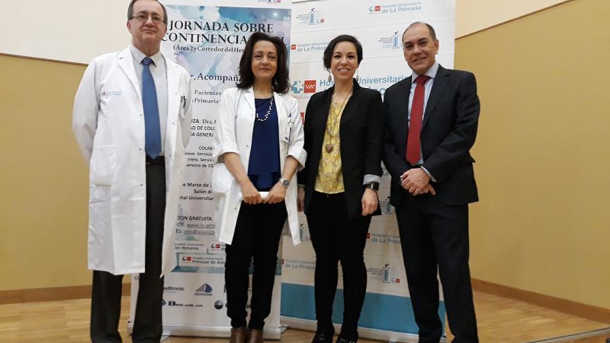 Organizadores de las jornadas de incontinencia anal en el Hospital de La Princesa