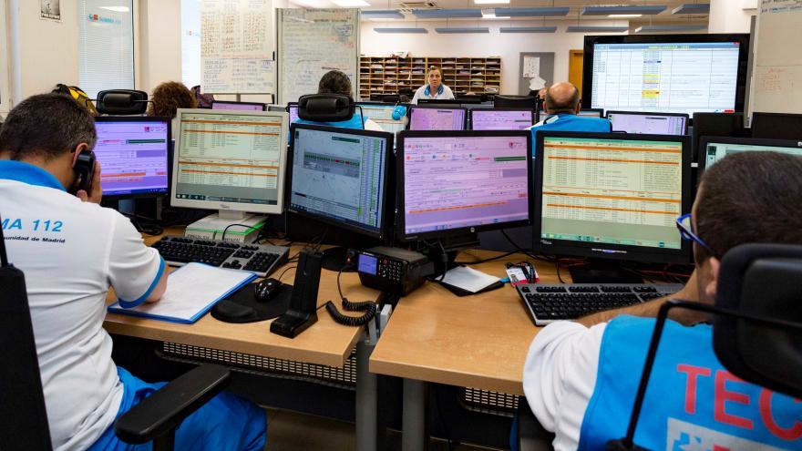 Sala de atención de urgencias del SUMMA112