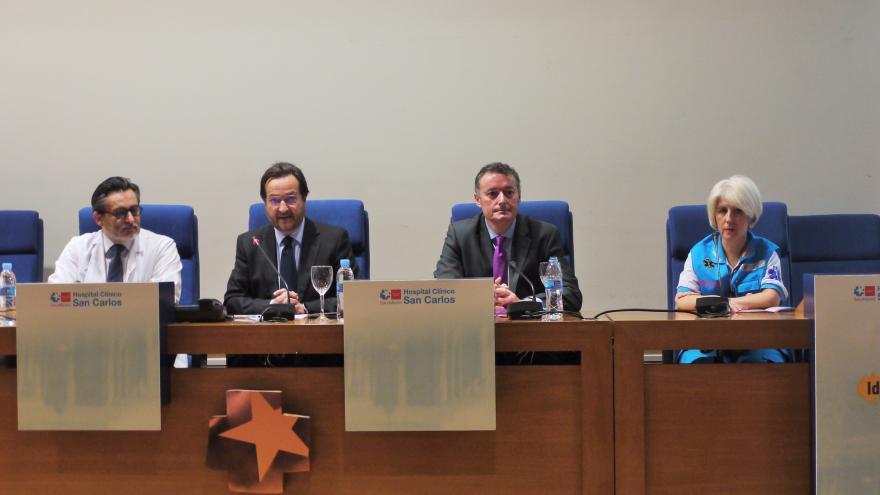 Mesa de apertura de la jornada de Urgencias Extrahospitalarias