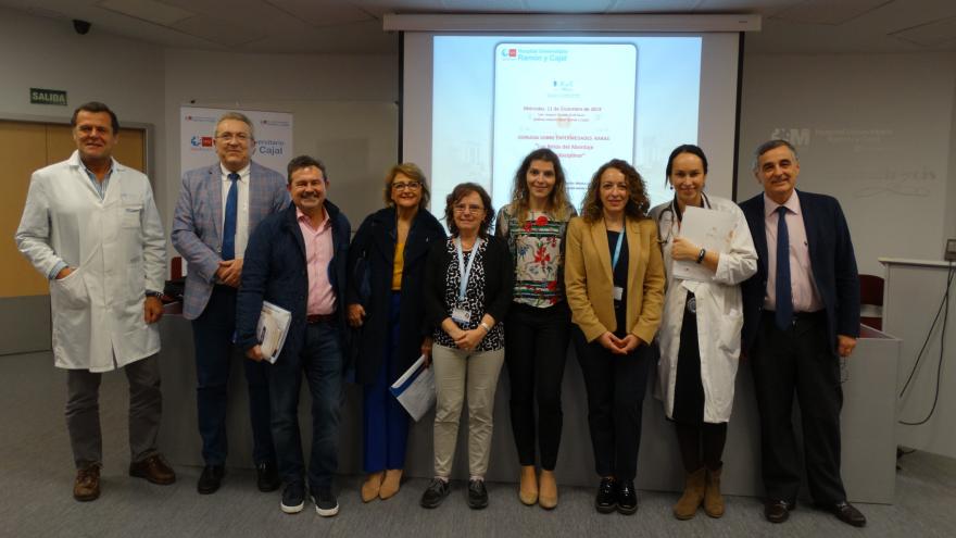 Imagen de ponentes de la jornada en el Hospital Universitario Ramón y Cajal