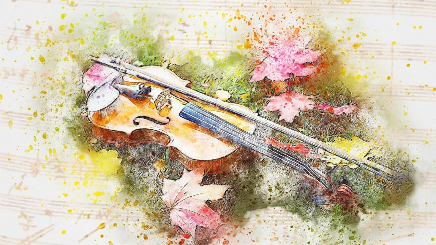 Pintura de un violin