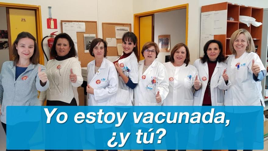 Los profesionales sanitarios dan ejemplo vacunándose contra la gripe