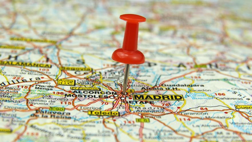 Imagen de un mapa de España con la Comunidad de Madrid