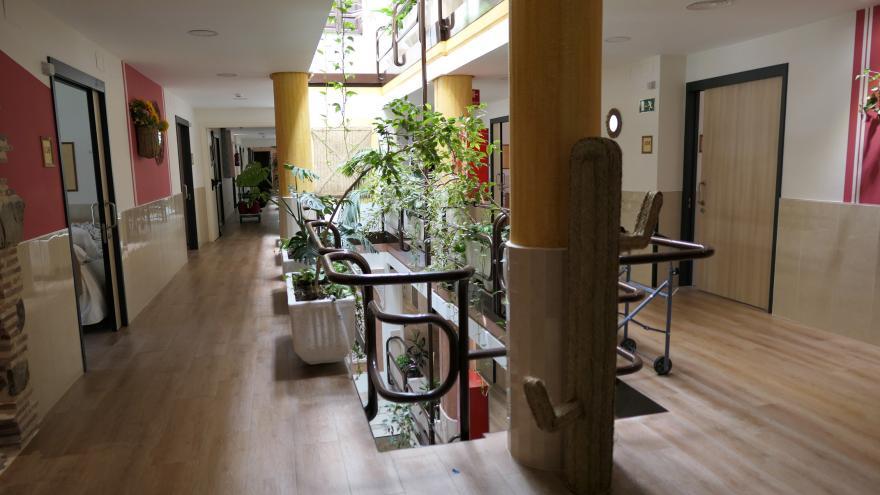 Vista interior residencia de mayores