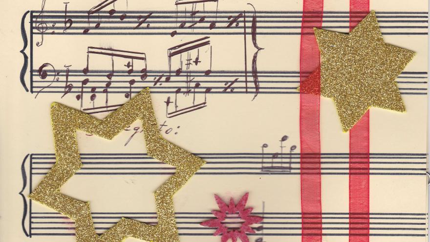 Notas musicales y estrellas