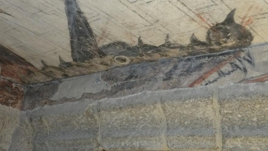 Pinturas murales. Iglesia Robledo de Chabela