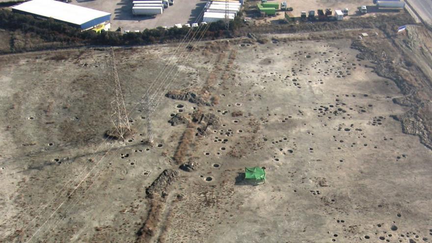 Imagen de vista aérea del Yacimiento de la Atalaya
