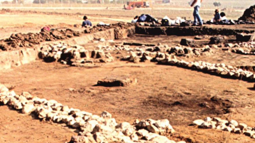 Imagen de vista del Yacimiento de la Fuente de la Mora