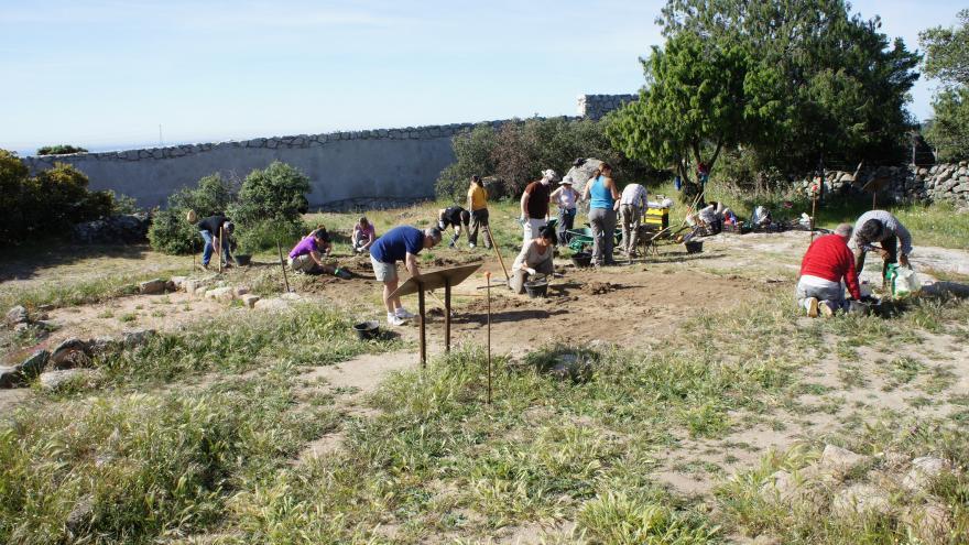 Vista de las excavaciones en el yacimiento de La Cabilda