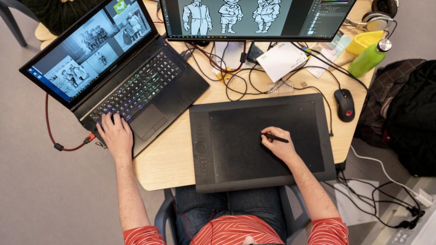 Imagen proceso creación de animación