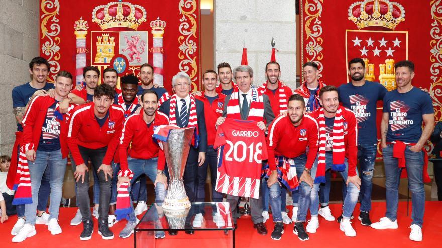 Garrido felicita a un Atlético de Madrid campeón