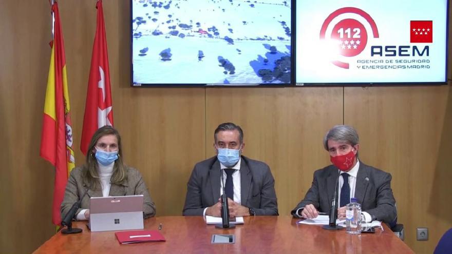 Rueda de prensa del 13 de enero de 2021 desde la Agencia de Seguridad y Emergencias Madrid 112