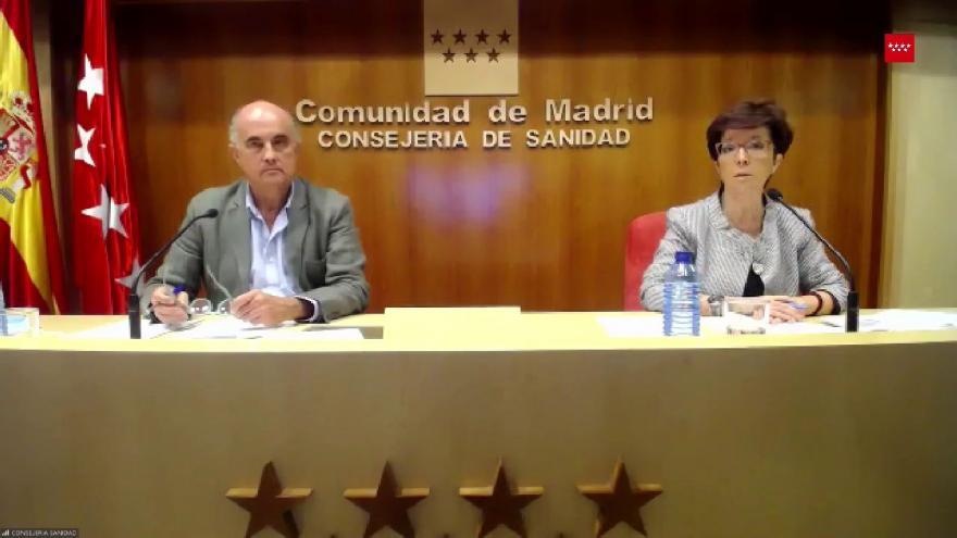 Rueda de prensa información de la evolución de la situación por COVID-19 en la Comunidad de Madrid