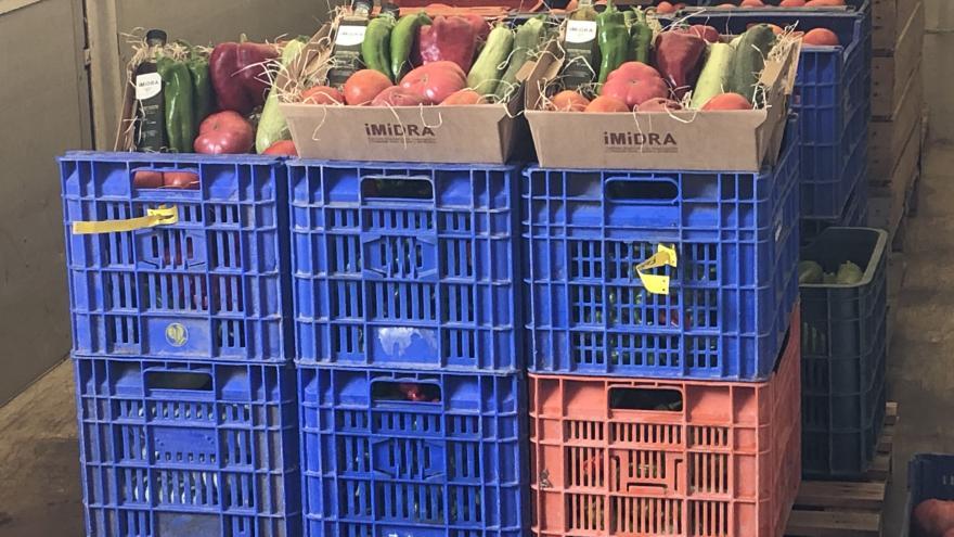 Alimentos donados al Banco de Alimentos de Madrid