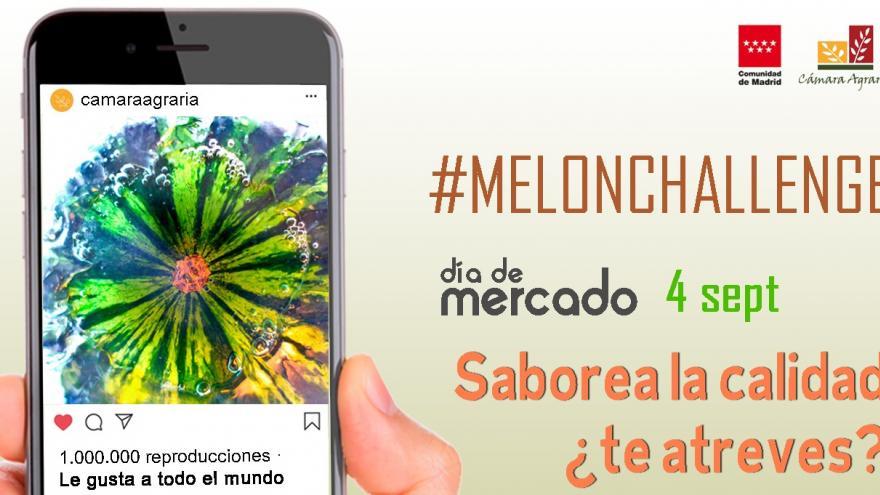 Día de mercado melón en el móvil