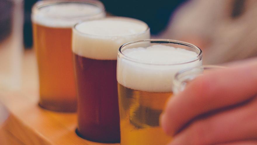 distintos tipos de cerveza alineadas