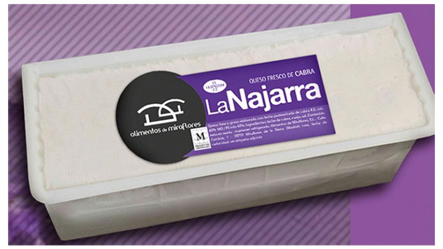 Fotografía de un queso La Najarra