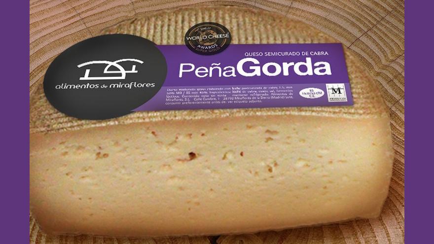 Fotografía de un queso Peña Gorda semicurado de cabra