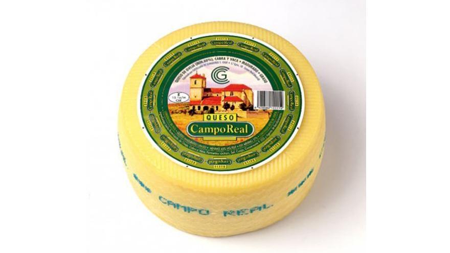 Fotografía de un queso Campo Real de oveja semicurado