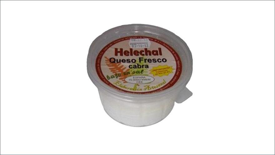 Fotografía de un queso Helechal fresco de cabra