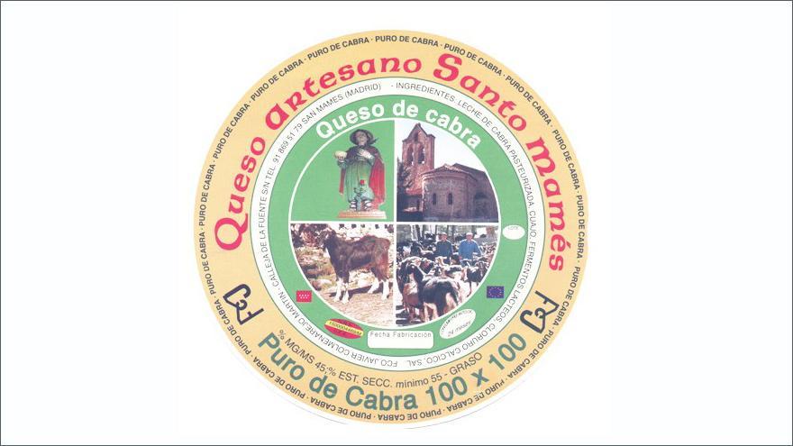 Fotografía de un queso Santo Mamés puro de cabra leche pasterizada