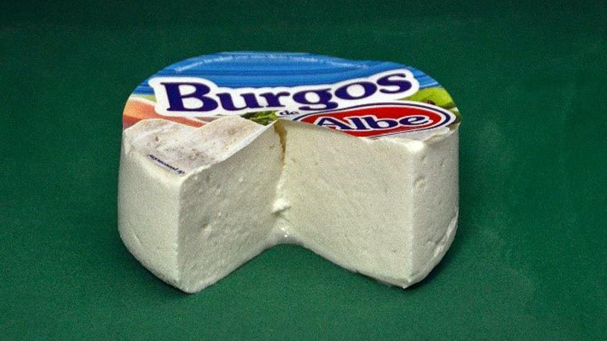 Fotografía de un queso de Burgos Albe