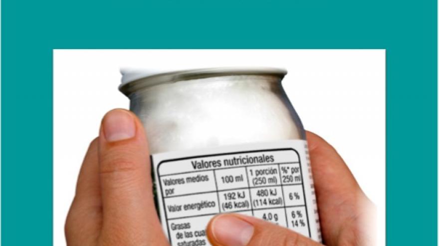 Portada de la Guía sobre el etiquetado nutricional de los alimentos