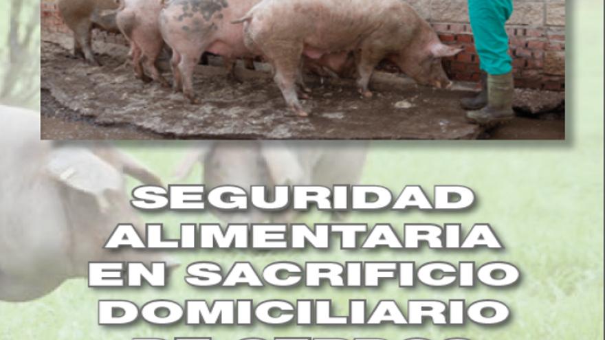 Portada del folleto: sacrificio domiciliario de cerdos