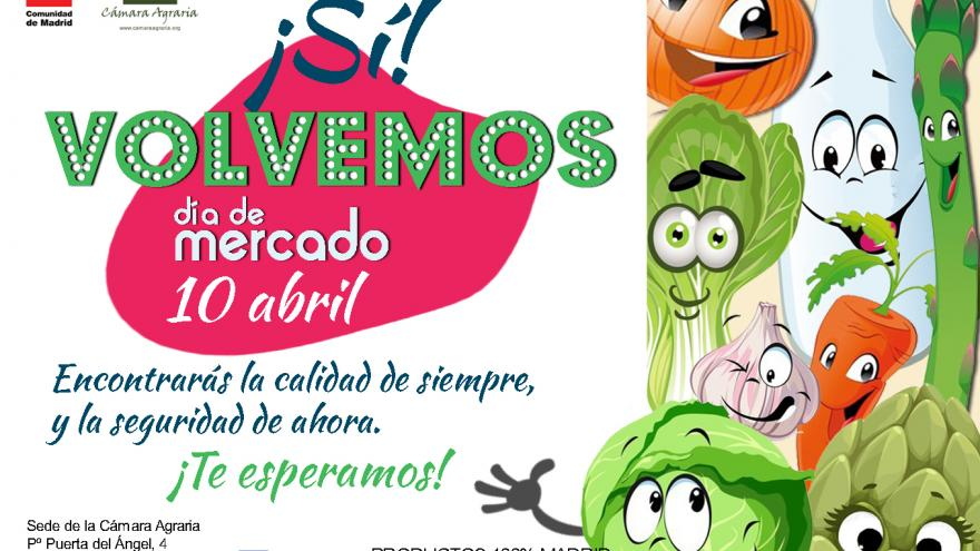 Cartel día de mercado abril 2021
