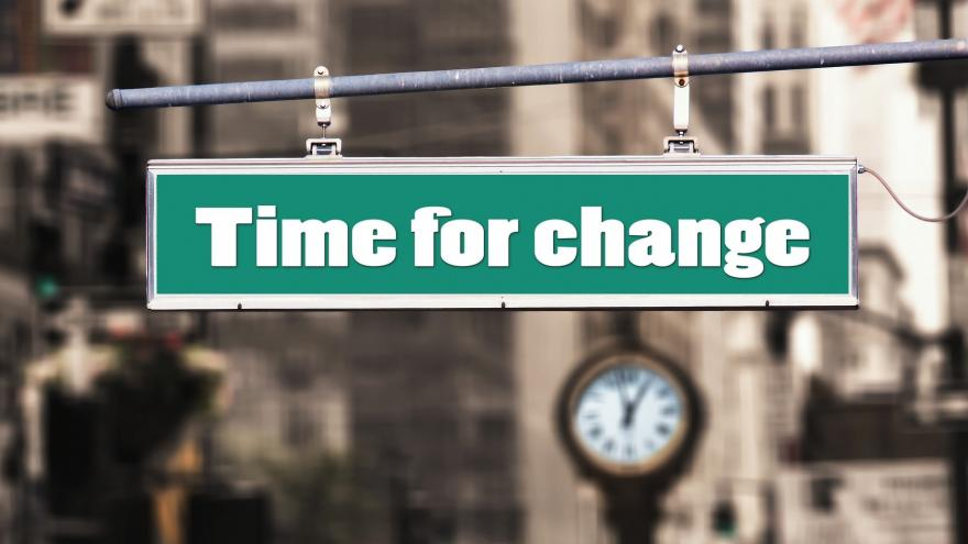 Cartel en la calle que pone Time for change