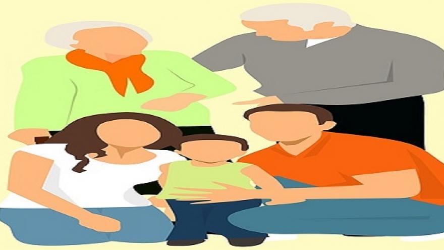 Dibujo de un grupo de personas unidas