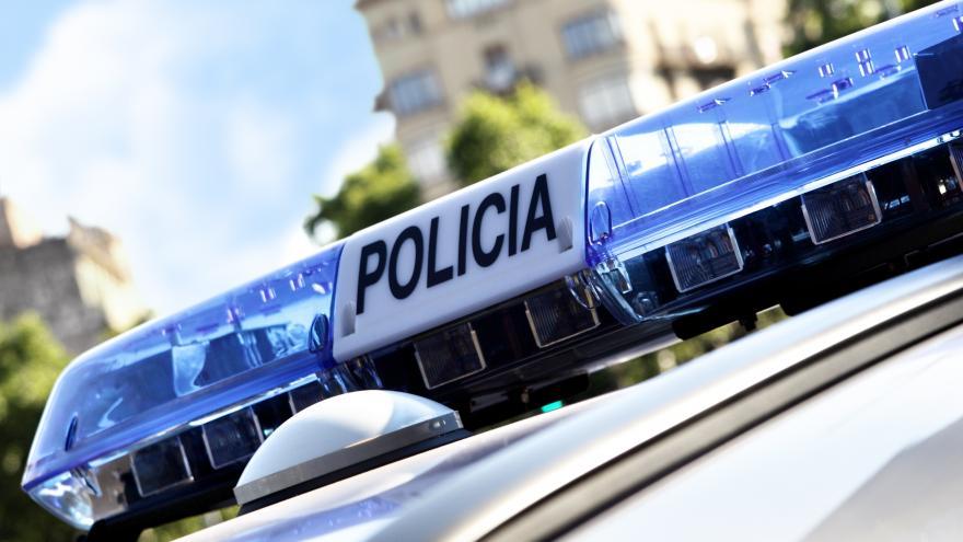 Coche policía rotativos