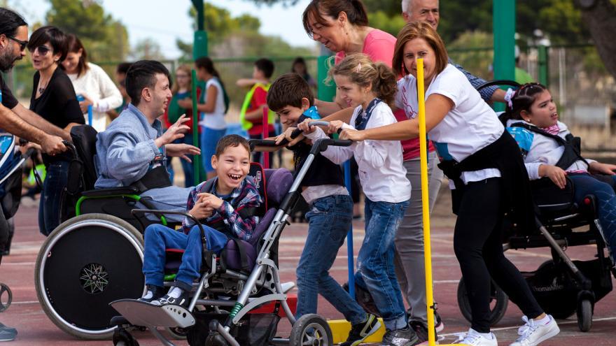 Personas con enfermedad mental participando en actividades deportivas