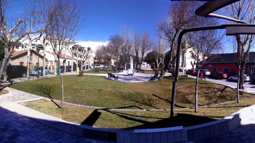 Imagen de la Plaza del Doctor Gereda en Navacerrada