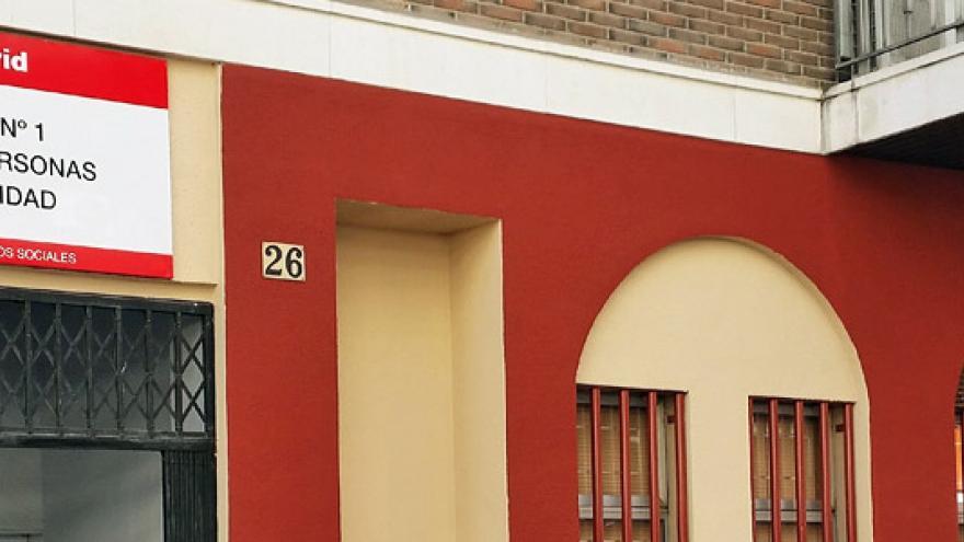 Fachada del Centro Base Nº 1 de la Comunidad de Madrid