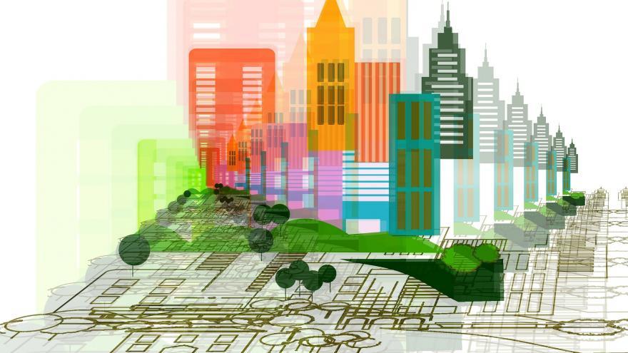 Dibujo de una ciudad