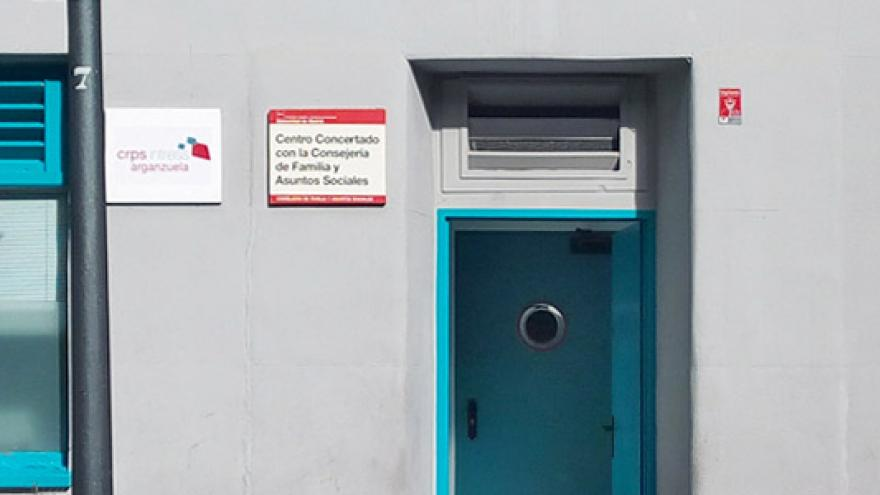 Fachada del Centro de Rehabilitación Psicosocial (CRPS) Arganzuela