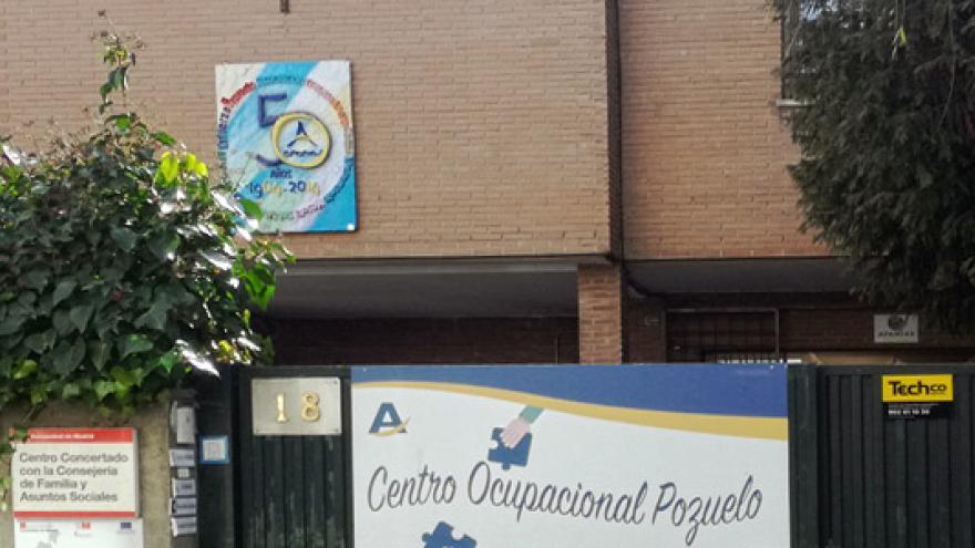 Fachada del Centro Ocupacional Experimental AFANIAS Pozuelo