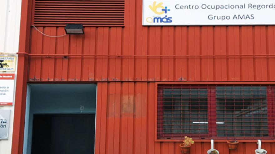 Fachada del Centro Ocupacional Prado Regordoño - Grupo AMÁS