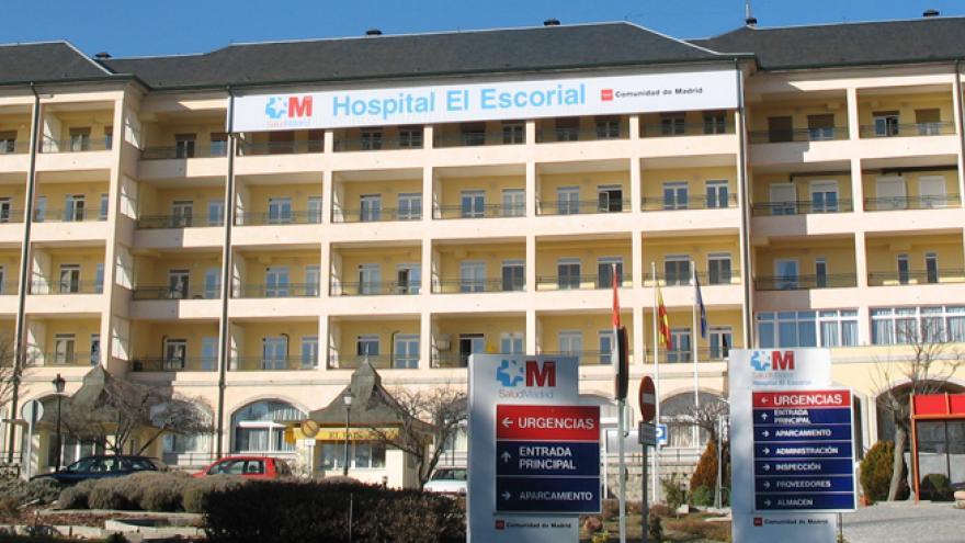 foto del exterior del hospital El Escorial