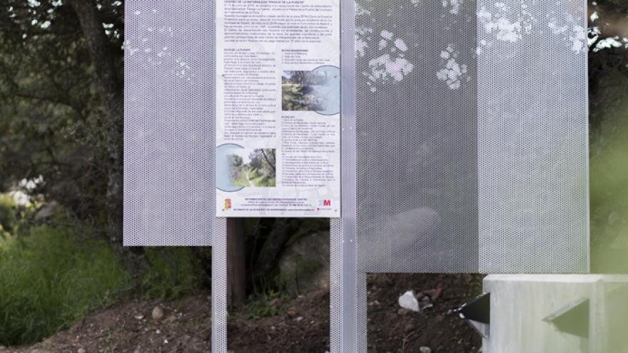 Imagen de uno de los hitos paisajísticos en Fresnedillas de la Oliva